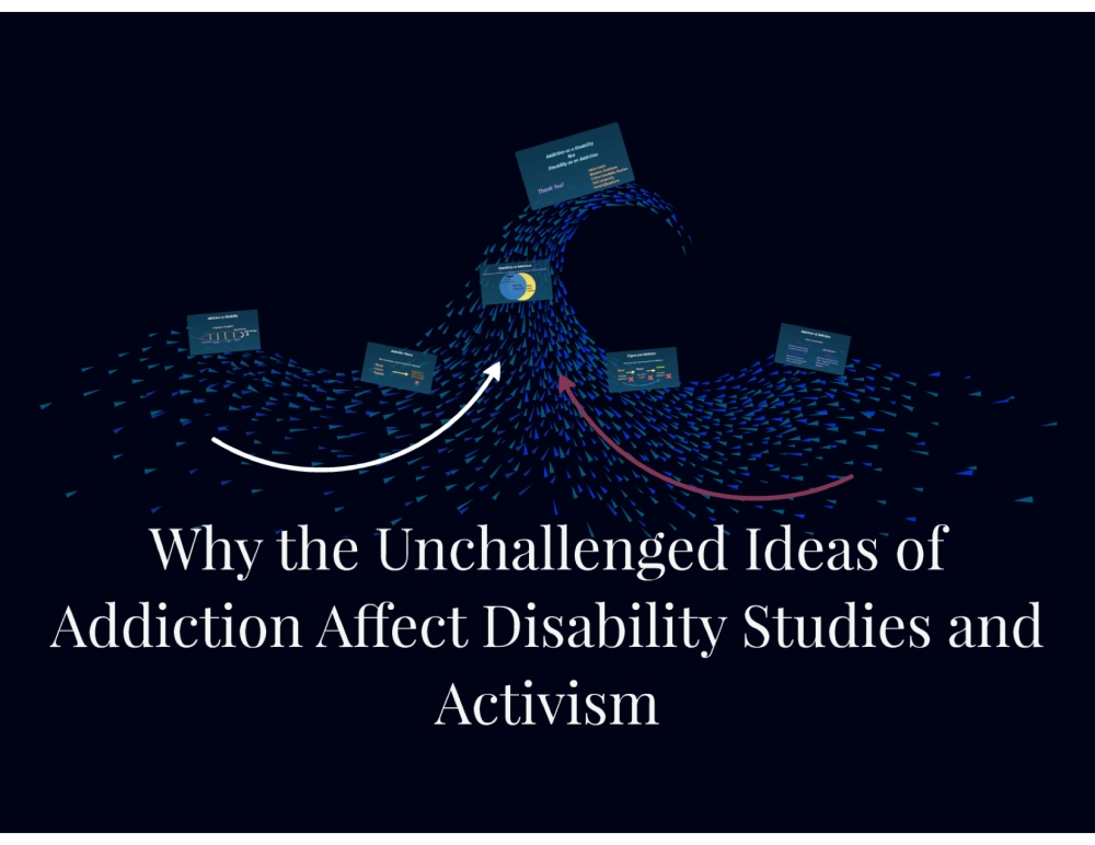 Picture of a wave used to show how addiction and disability are joining.